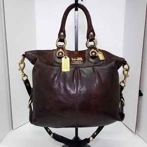 Coach Brown Leather Madison Handbag
